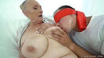 Chubby Grandma Fucks Bitch