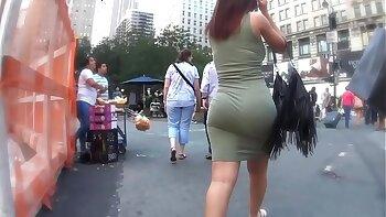 Round Ass Chubby Shemale Masturbates
