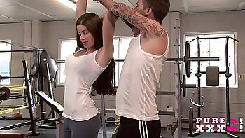 Latina maylla gym girl gets creampie