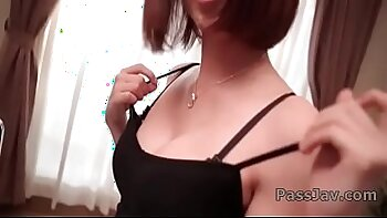 Big titted japanese stunner Inkie Raxxx gives hot solo wi