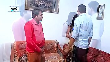 (Indian Shared Wife Landlord In Bathroom With Girlfriend New Lover GF fcf