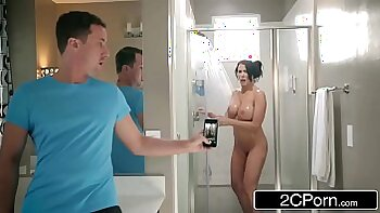 Still so good MILF Vigores takes a hot shower with her step son