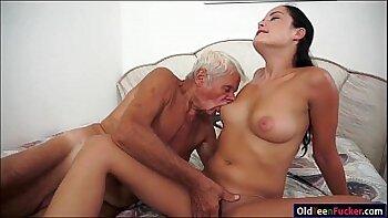 Amatuer and partners shared grandpa cock somewhere