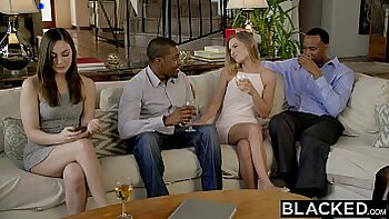 Amber Virtual Interracial Threesome with BFFs